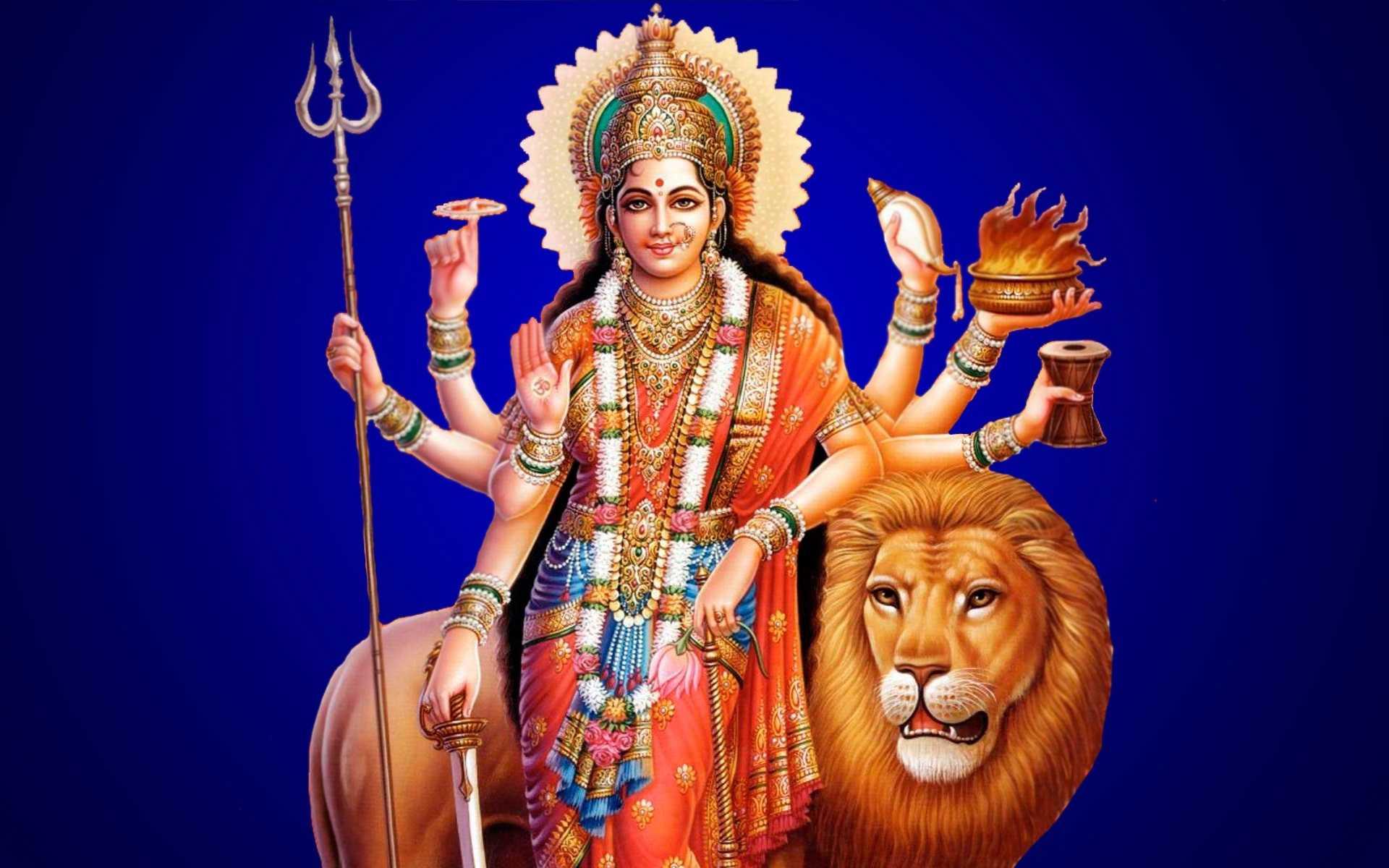 Hindu Goddess Maa Durga Mata HD Sherawali Wallpaper - Maa Durga Ashtbhuja Devi Hindu Goddess Maa Durga Mata HD Sherawali Wallpaper. Mata Durga Bhawani Meri Ambe Wali Maa Durga Image.