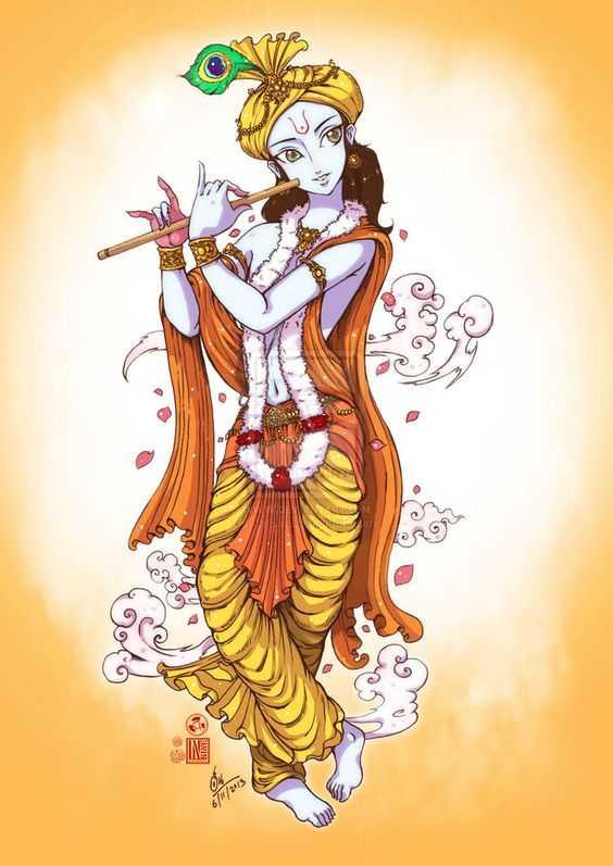 God Shree Krishna Painting Very Beautiful - God Shree Krishna Painting Very Beautiful