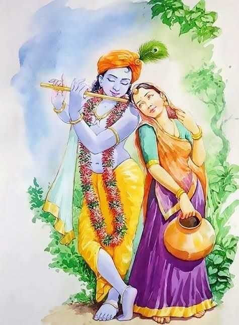 Radha Krishna Couple Love Picture in Gokul - Radha Krishna Couple Love Picture in Gokul