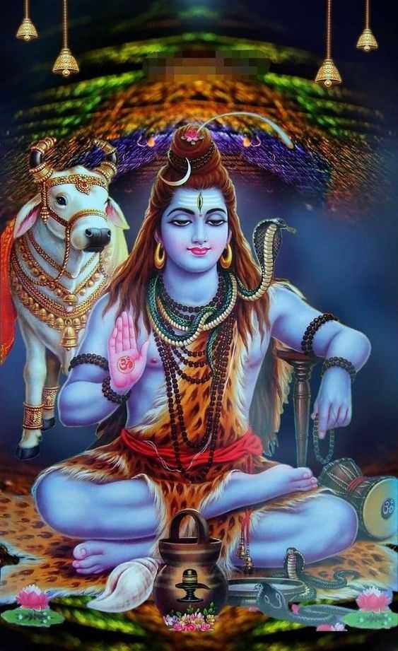 Bhagwan Shankar Pic with Nandi - Bhagwan Shankar Pic with Nandi