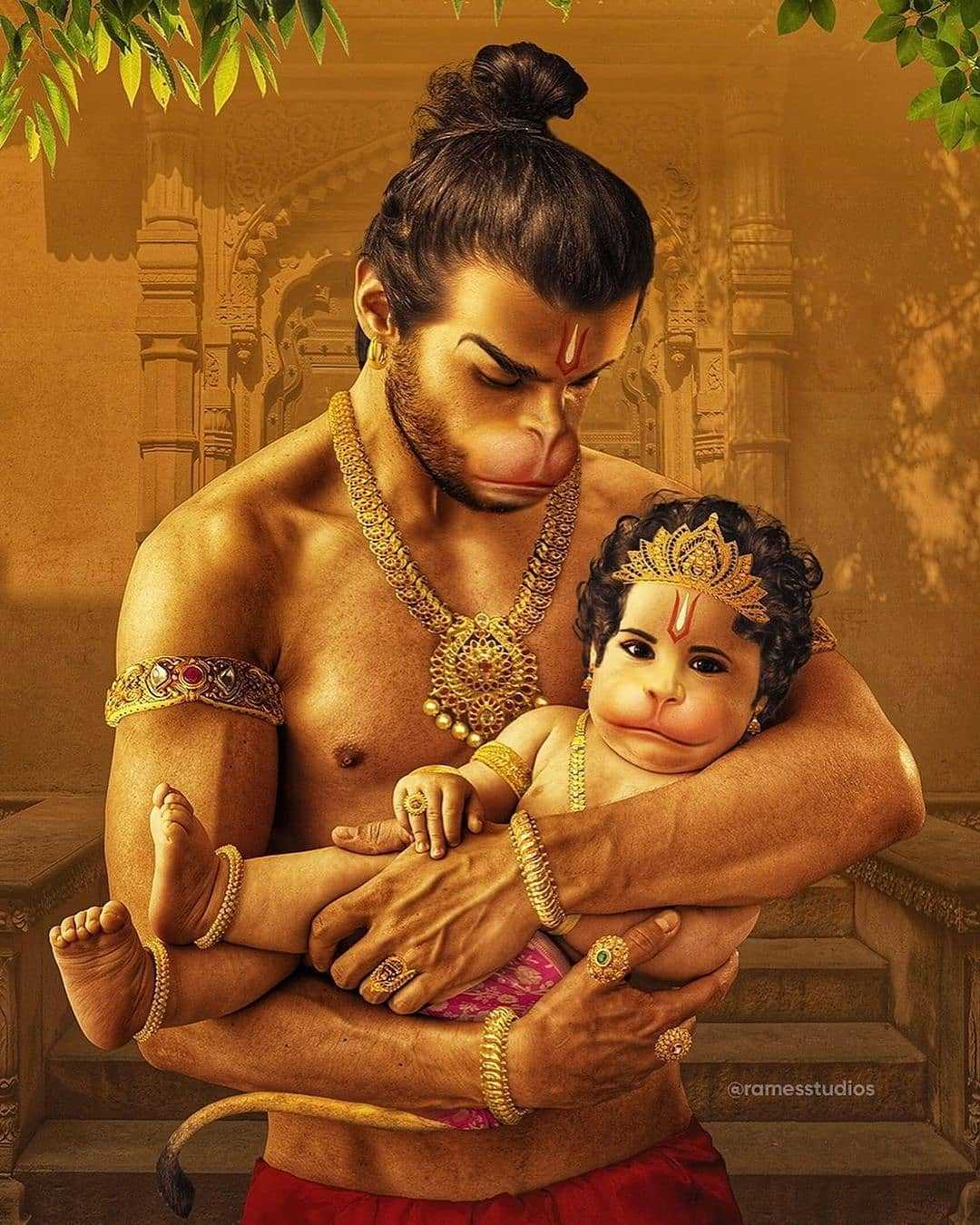 Little God Hanuman with His Father ! Jay Hanuman - Little God Hanuman with His Father ! Jay Hanuman