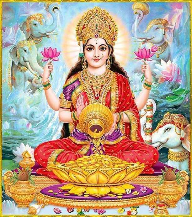 Hindu Goddess Lakshmi Ji Images, Maa Lakshmi - Goddess Mahalakshmi Ji Pictures. Goddess of money, Maa Lakshmi is worshiped in India to get blessings for money and prosperity. Maa Laxmi is the wife the God Vishnu and She lives in Kshir Sagar with Bhagwan Vishnu Ji.
