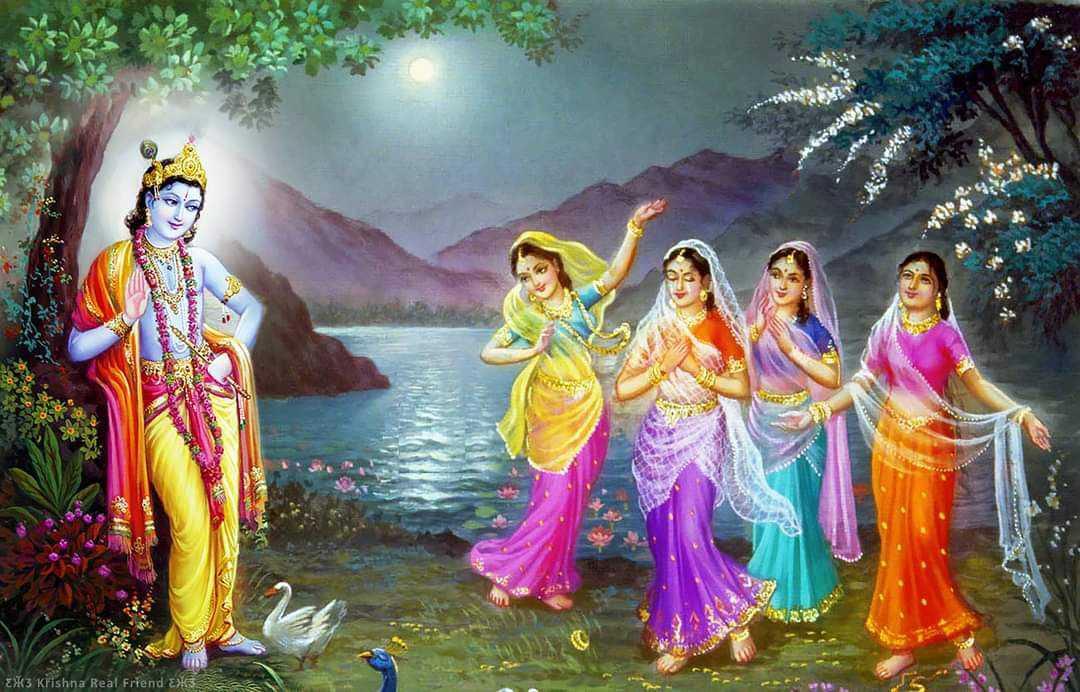 Raas Leela Krte Huye Bhagwan Krishna Ka Wallpaper Gopiyo Ke Sath - Gopiyo sang bhagwan krishna kanhaiya ka wallpaper photo hd quality. Krishna kanhaiya ka wallpaper photo gopiyon ke sath.