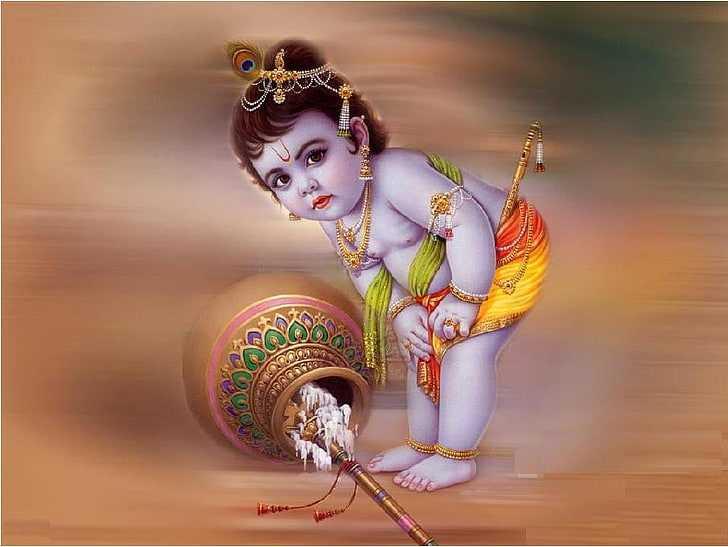 Little Cute God Krishna Images | Makhan Chor Cute Little Krishna Ji - Little Krishna Makhanchor Wallpapers. Cute Little Small Krishna Childhood Pictures. Krishna HD Cute Little Childhood Wallpapers.