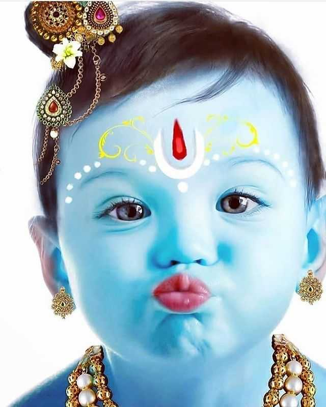 Cute Lord Krishna Small Baby Face - Cute Lord Krishna Small Baby Face