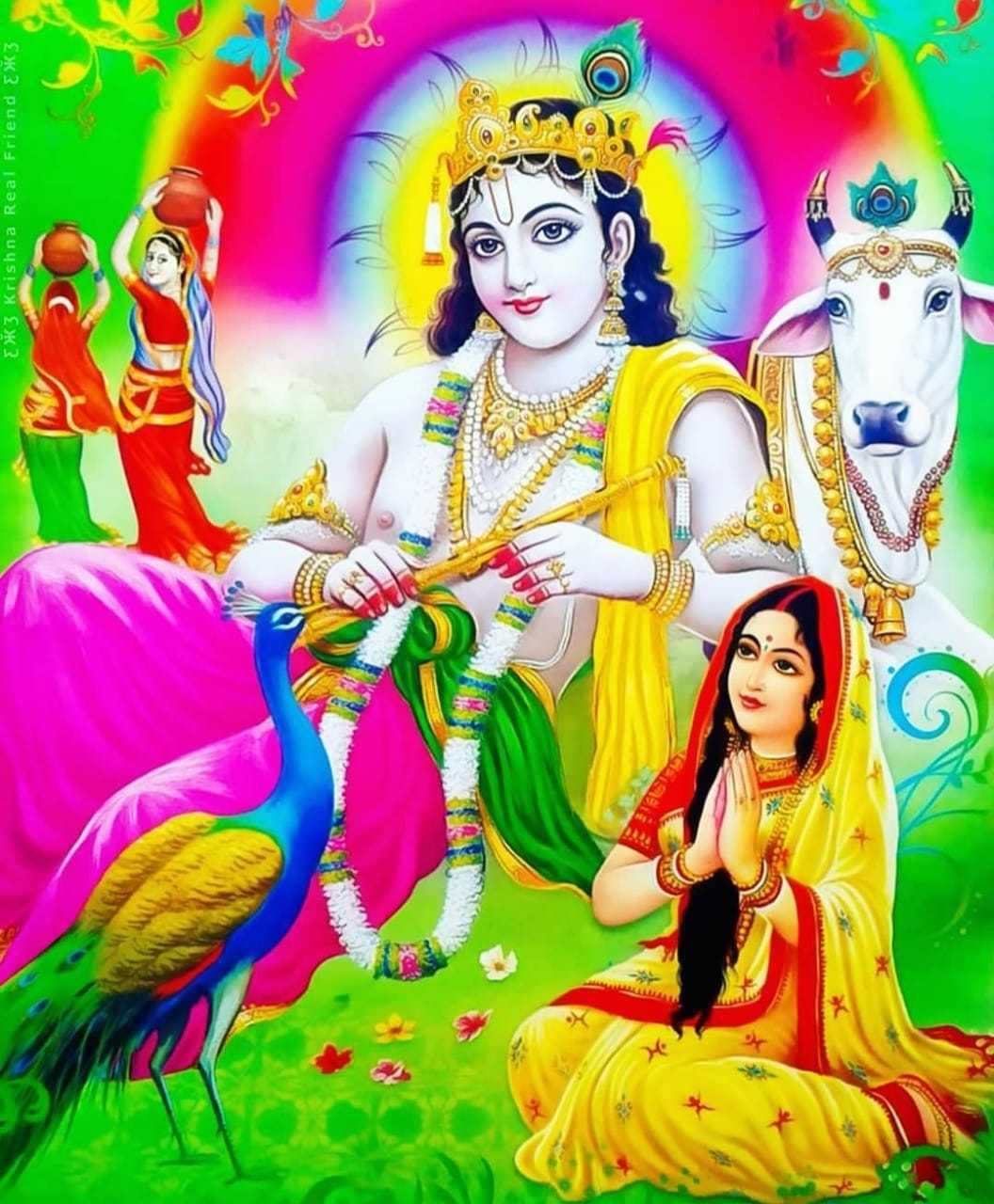 Bansuri Bajate Hue Lord Krishna Ka Beautiful Wallpaper - Shree hari krishna bansuri wallpaper free download for desktop screen. We are share awesome krishna flute wallpaper Images to download for free.
