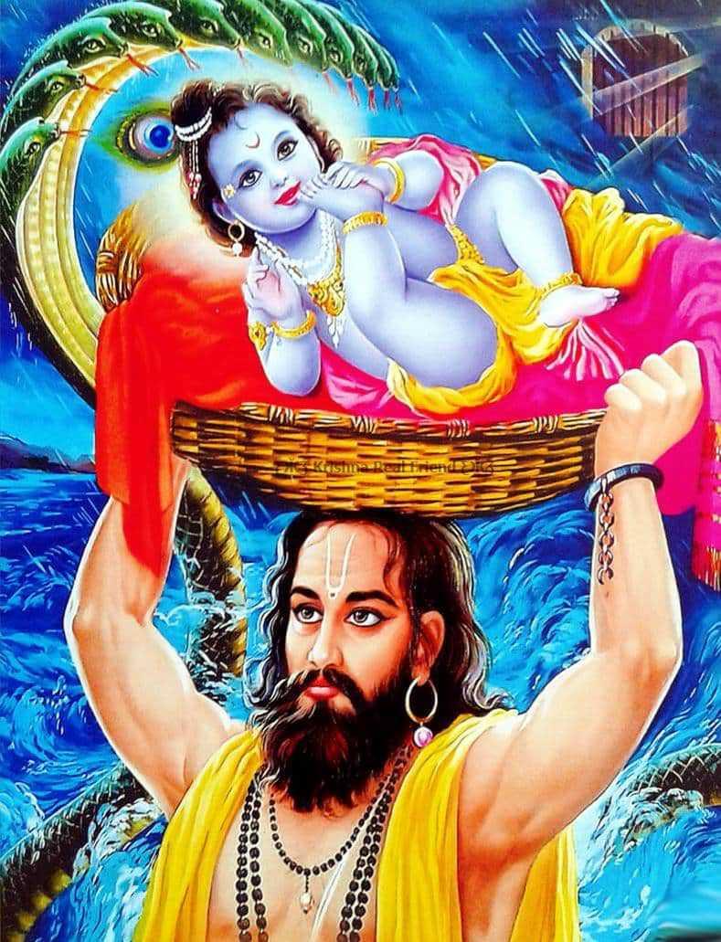 God Krishna Bhagwan with Nandbaba Birthday Wallpaper - God Krishna Bhagwan with Nandbaba Birthday Wallpaper